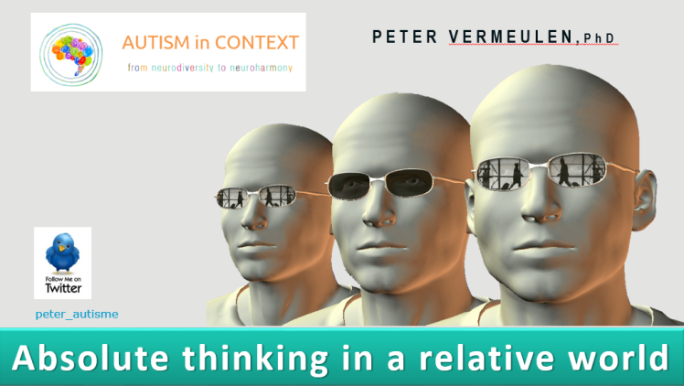 Absolute thinking in relative world first slide